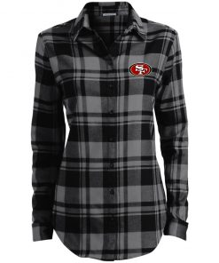 Private: San Francisco 49ers Ladies' Plaid Flannel Tunic
