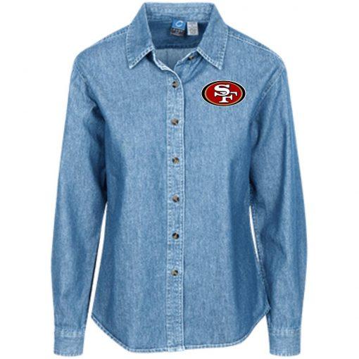 Private: San Francisco 49ers Women's LS Denim Shirt