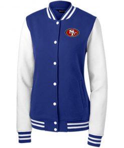 Private: San Francisco 49ers Women's Fleece Letterman Jacket