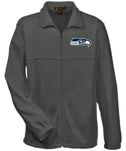 Private: Seattle Seahawks NFL Pro Line Gray Victory Fleece Full-Zip