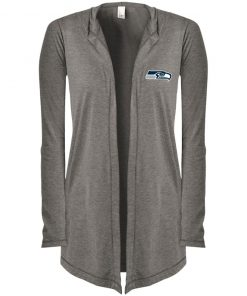 Private: Seattle Seahawks NFL Pro Line Gray Victory Women's Hooded Cardigan
