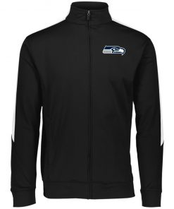 Private: Seattle Seahawks NFL Pro Line Gray Victory Performance Colorblock Full Zip