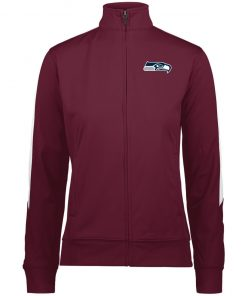 Private: Seattle Seahawks NFL Pro Line Gray Victory Ladies' Performance Colorblock Full Zip