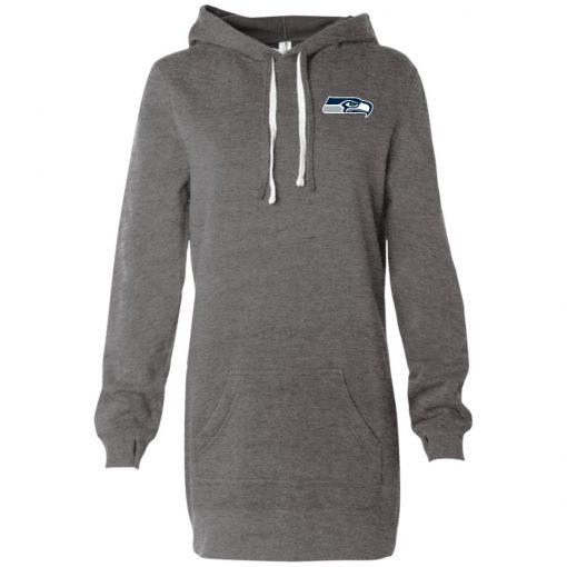 Private: Seattle Seahawks NFL Pro Line Gray Victory Women's Hooded Pullover Dress