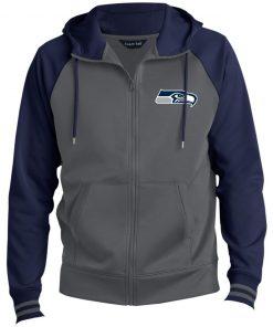 Private: Seattle Seahawks NFL Pro Line Gray Victory Men's Sport-Wick® Full-Zip Hooded Jacket