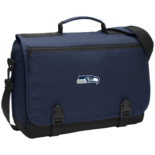 Private: Seattle Seahawks NFL Pro Line Gray Victory Messenger Briefcase