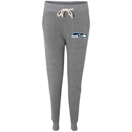 Private: Seattle Seahawks NFL Pro Line Gray Victory Ladies' Fleece Jogger