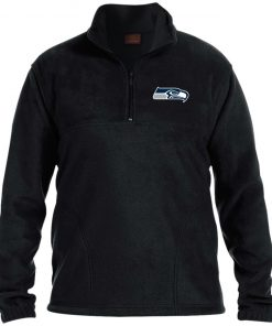 Private: Seattle Seahawks NFL Pro Line Gray Victory 1/4 Zip Fleece Pullover