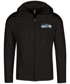 Private: Seattle Seahawks NFL Pro Line Gray Victory Lightweight Full Zip Hoodie