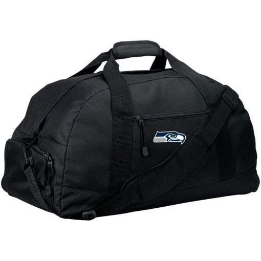 Private: Seattle Seahawks NFL Pro Line Gray Victory Basic Large-Sized Duffel Bag