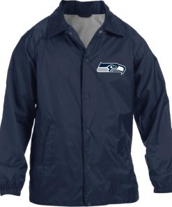 Private: Seattle Seahawks NFL Pro Line Gray Victory Nylon Staff Jacket