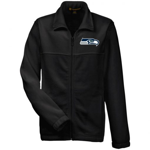 Private: Seattle Seahawks NFL Pro Line Gray Victory Youth Fleece Full Zip