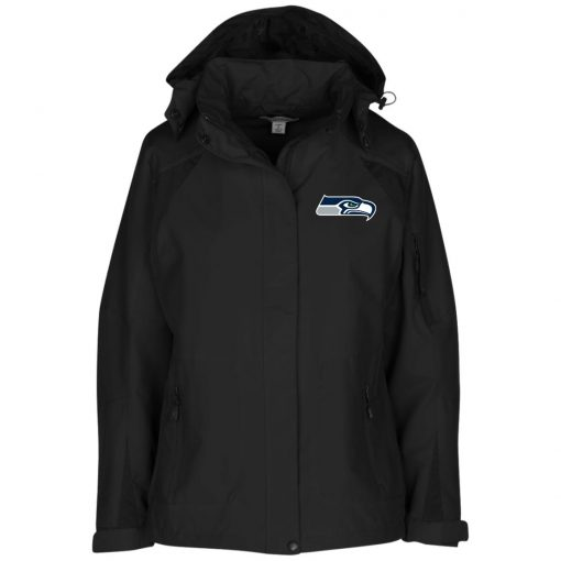 Private: Seattle Seahawks NFL Pro Line Gray Victory Ladies' Embroidered Jacket