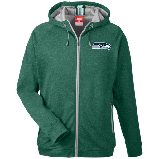 Private: Seattle Seahawks NFL Pro Line Gray Victory Men's Heathered Performance Hooded Jacket