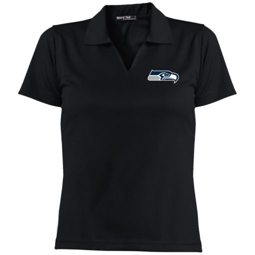 Private: Seattle Seahawks NFL Pro Line Gray Victory Ladies' Dri-Mesh Short Sleeve Polo