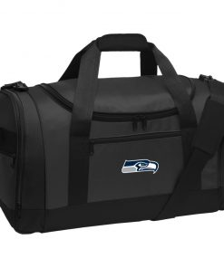 Private: Seattle Seahawks NFL Pro Line Gray Victory Travel Sports Duffel