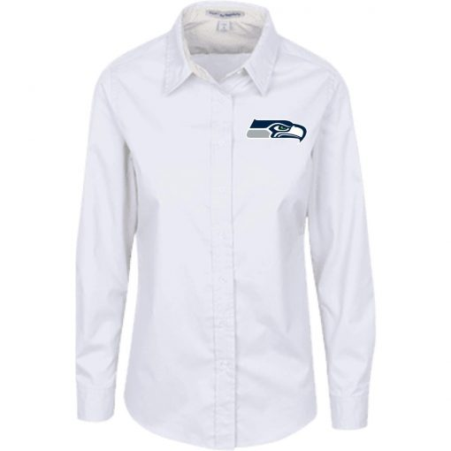 Private: Seattle Seahawks NFL Pro Line Gray Victory Ladies' LS Blouse