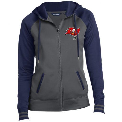 Private: Tampa Bay Buccaneers Ladies' Moisture Wick Full-Zip Hooded Jacket