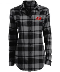 Private: Tampa Bay Buccaneers Ladies' Plaid Flannel Tunic