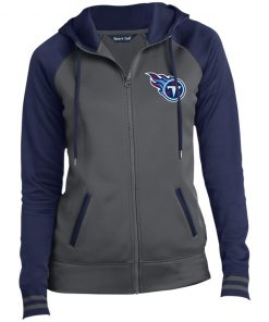 Private: Tennessee Titans Ladies' Moisture Wick Full-Zip Hooded Jacket