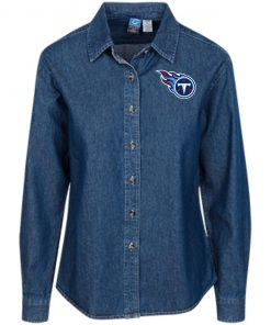 Private: Tennessee Titans Women's LS Denim Shirt