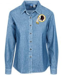 Private: Washington Redskins Women's LS Denim Shirt