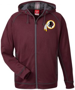 Private: Washington Redskins Men's Heathered Performance Hooded Jacket